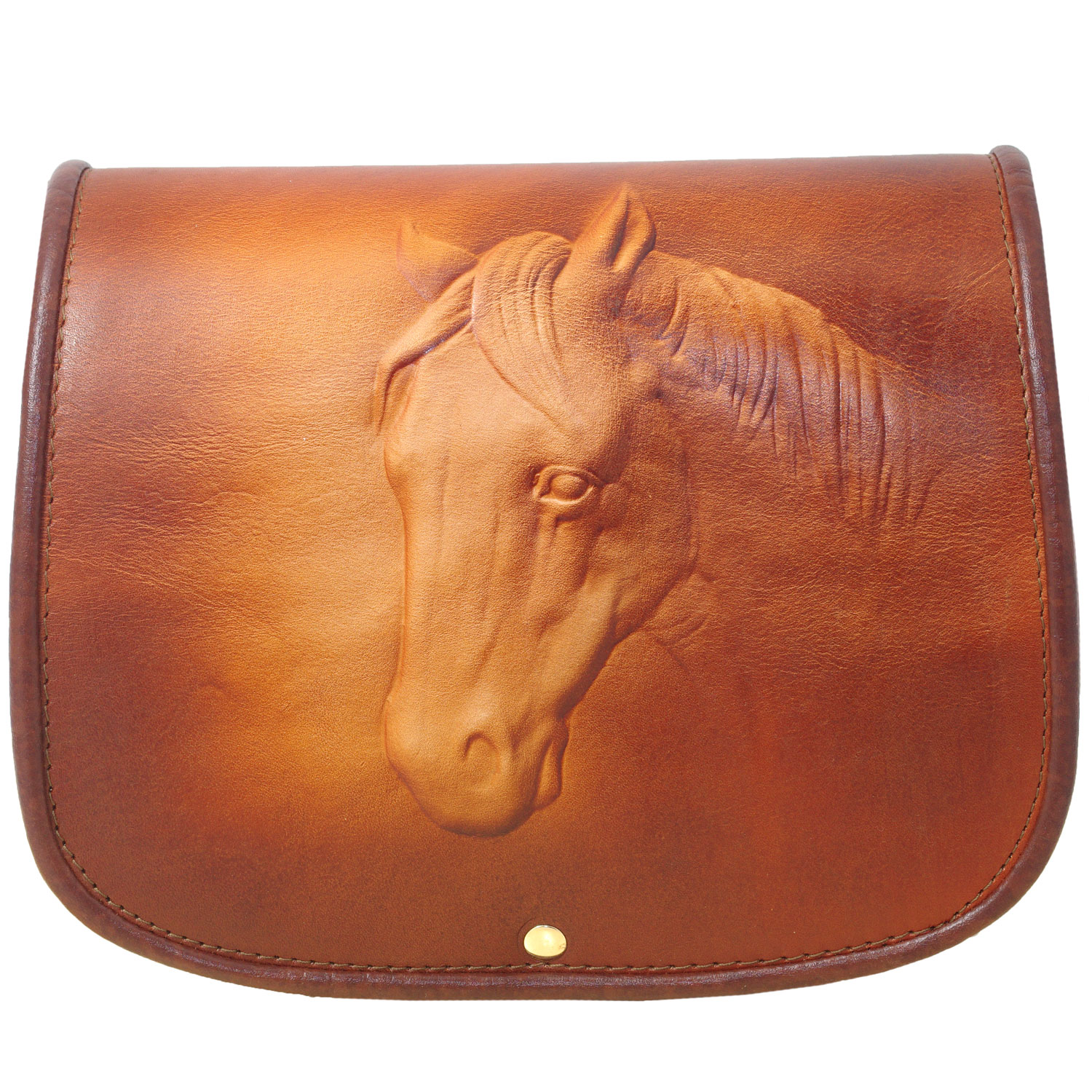 Genuine Leather Bag with Moulded Horse design for women