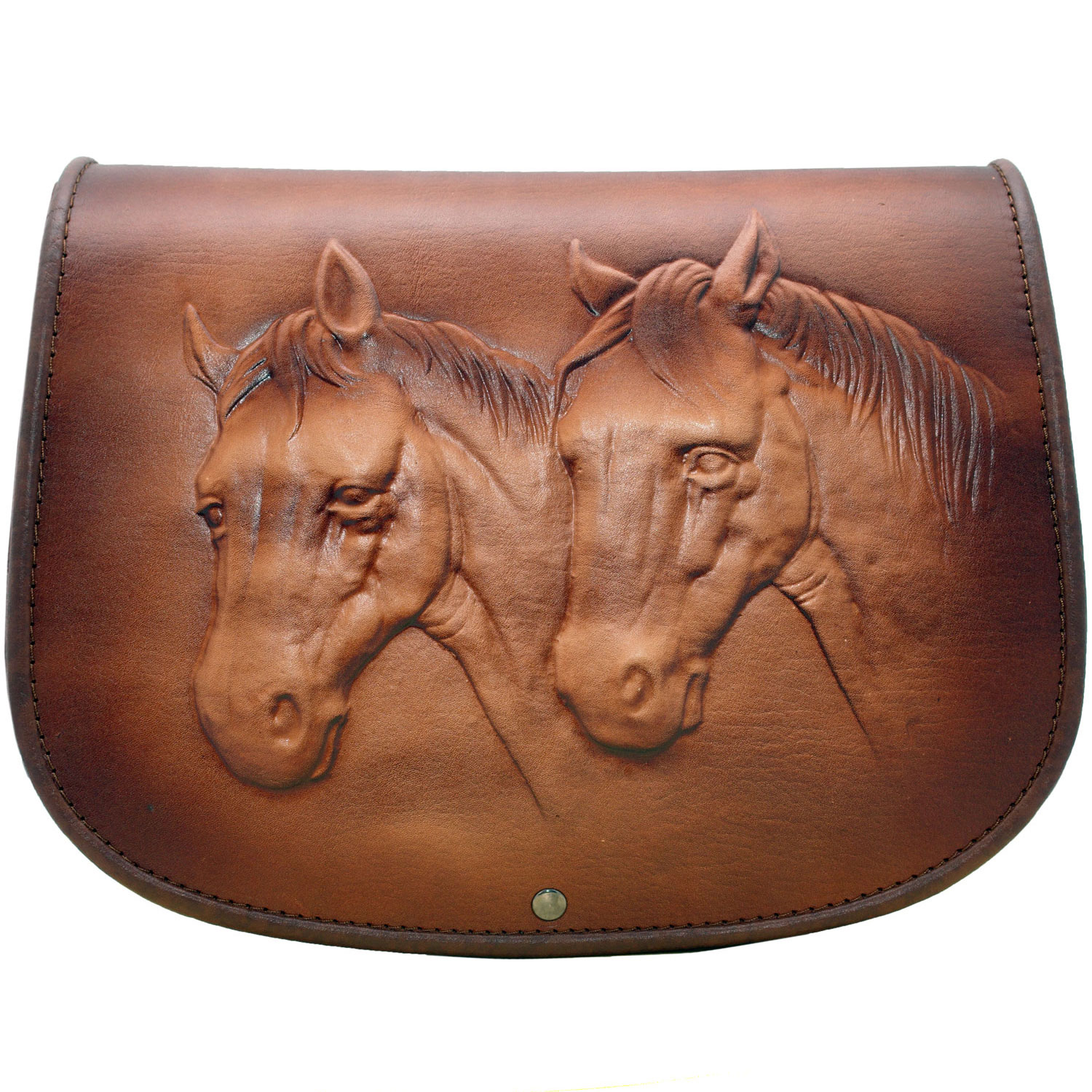 2-horses-leather-bag